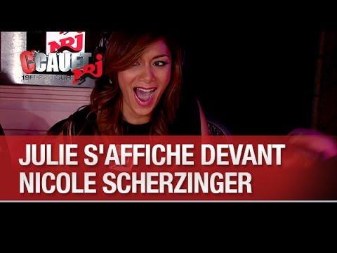 Julie saffiche devant Nicole Scherzinger - CCauet sur NRJ