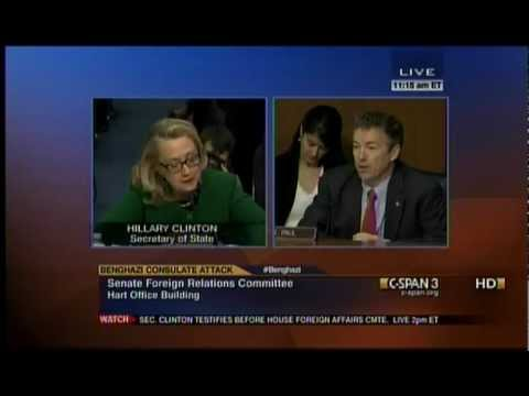 Sen. Rand Paul Questions Secretary Clinton at SFRC Benghazi hearing - 01/23/13