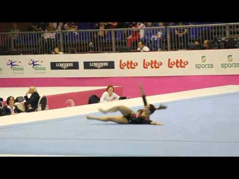 Erika FASANA ITA, Floor Senior Qualification, European Gymnastics Championships 2012