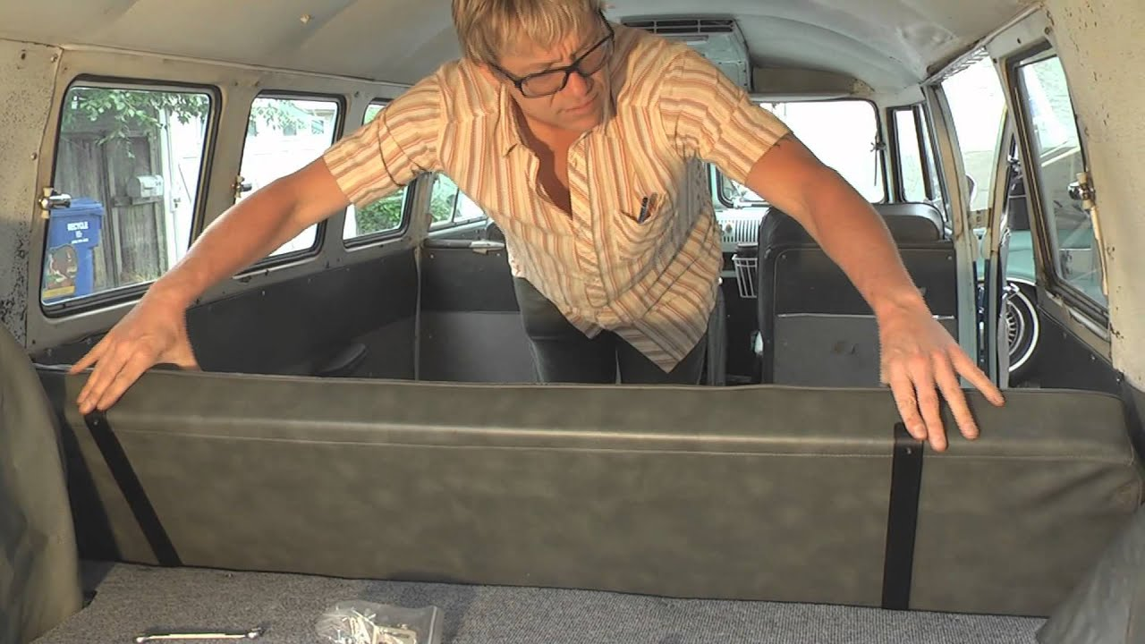 VW Camper Bed Conversion - DIY German Aircooled Garage #3 - YouTube