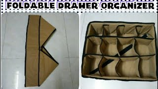 DIY: How To Sew Foldable Drawer Organizer Box By Anamika Mishra...