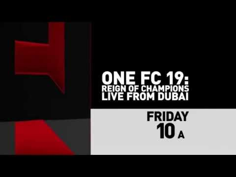 ONE FC 19 on Aug 29 2014 at 10 am ET LIVE on Fight Network