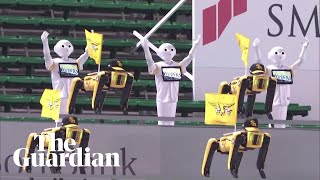 Dancing robots replace fans at baseball game in Japan