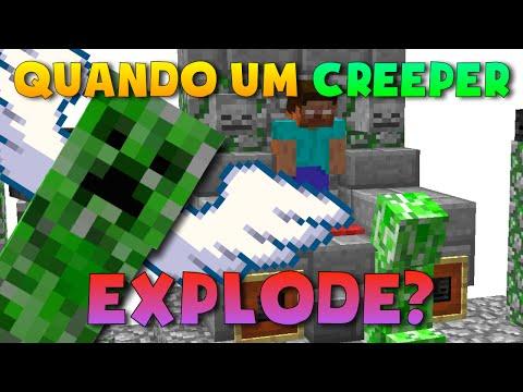 O QUE ACONTECE COM UM CREEPER AO EXPLODIR