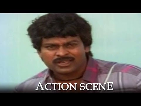 Chiranjeevi Action Scene - Donga Mogudu Telugu Movie video