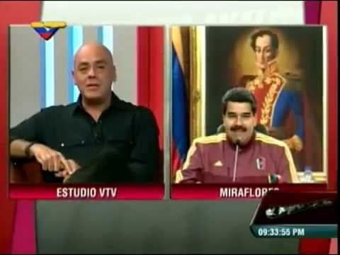 Jorge Rodríguez, Víctor Clark y Nicolás Maduro Con El Mazo Dando a Felipillo. Venezuela