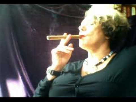 Woman Smoking a Churchill CIGAR Video