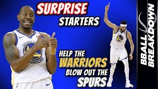 Surprise Starters Help Warriors Blow Out Spurs In Game 1