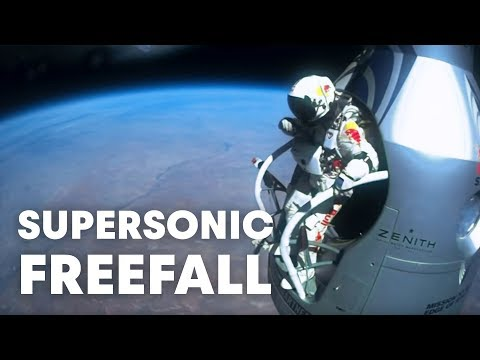 Felix Baumgartner's supersonic freefall from 128k' - Mission Highlight...