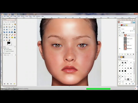 GIMP Tutorial - naturalistic skin and eye retouching