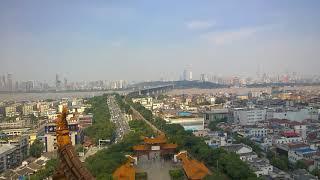 Thành phố Vũ Hán & sông Trường Giang - Trung Quốc nhìn từ Hoàng Hạc Lâu