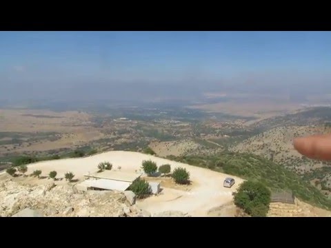 Nimrod Fortress, Golan Heights - a breathtaking view towards Lebanon and northern Israel