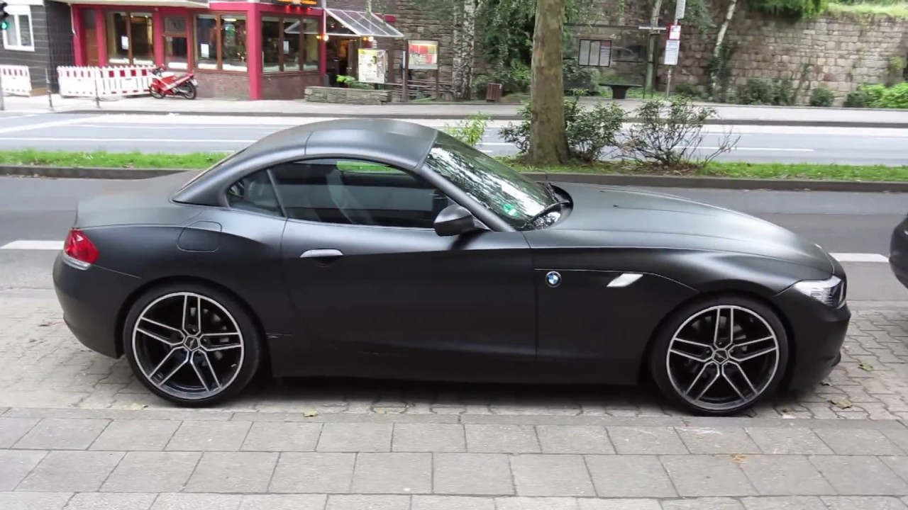 Matte Black Ac Schnitzer Bmw Z4 In Aachen Germany Youtube