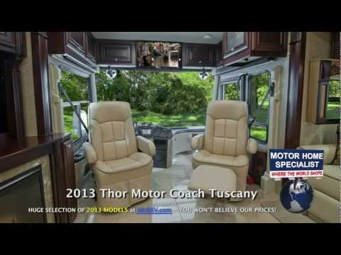 Best Diesel Pushers of 2013: Review of the New Top-Of-The-Line Tuscany Class A Diesel Motorhomes. RV