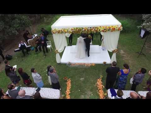 Filmación y fotografía aérea con drone para matrimonios