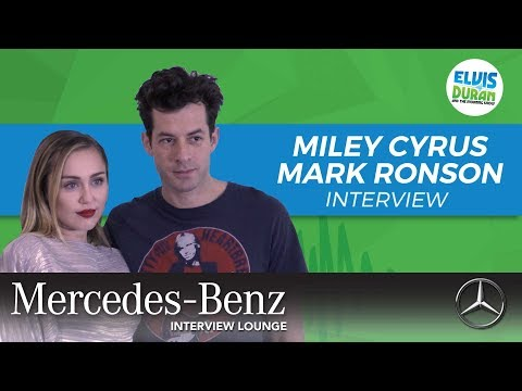 Miley Cyrus and Mark Ronson on