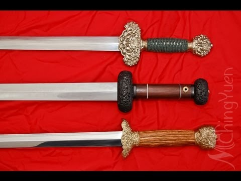 Cold Steel Swords -3 Chinese Swords Comparison and Review