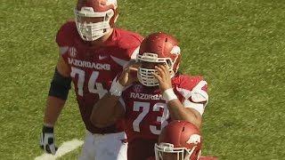 Watch Arkansas Lineman Make Week 9's