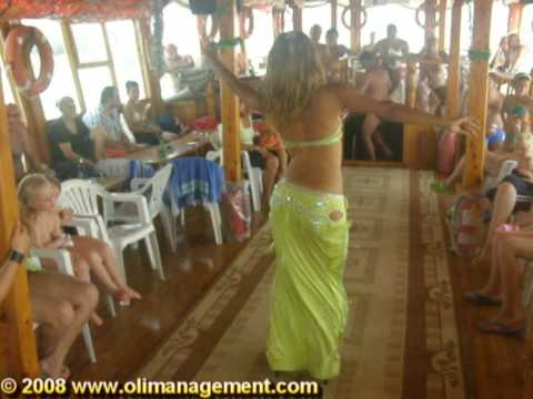 TURKEY - Belly Dancer on CIN BOAT Trip - Manavgat River (Part 1)