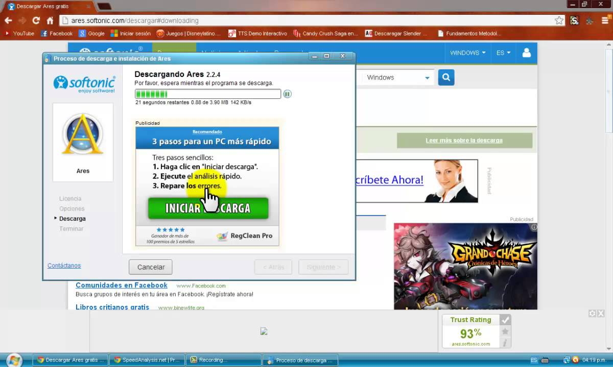 Como descargar ares espa ol gratis sin virus y ultima for Descarga are