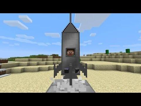 ไปดวงจันทร์!! ง่ายๆ ในมายคราฟ   Minecraft Pe 1.0.5