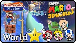 Super Mario 3D World - World Star (100% Multiplayer Walkthrough)