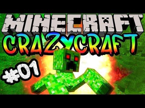 MINECRAFT - CrazyCraft a Série #01 - O Inicio
