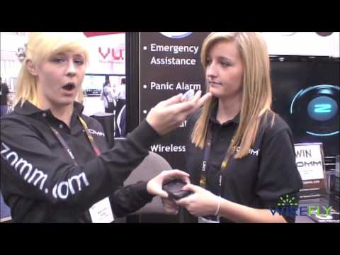 Live demo of ZOMM Wireless Cell Phone Leash - CES 2010