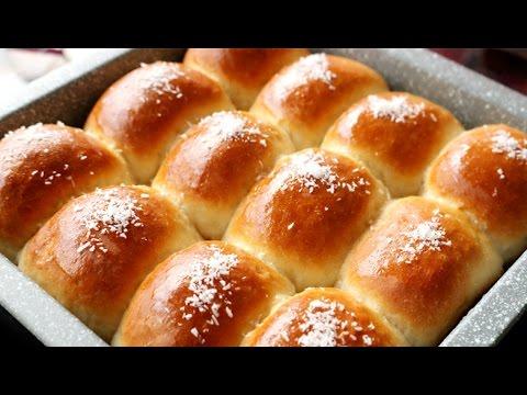 【 椰蓉面包的做法】  Super Soft and Moist Chinese Bakery Coconut Milk Bread