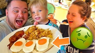 GUMMY FOOD VS REAL JOKE! 🍳🥓 Breakfast eggs and bacon!