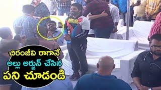 Stylish Star Allu Arjun Respect Towards Mega Star Chiranjeevi | Top Telugu Media