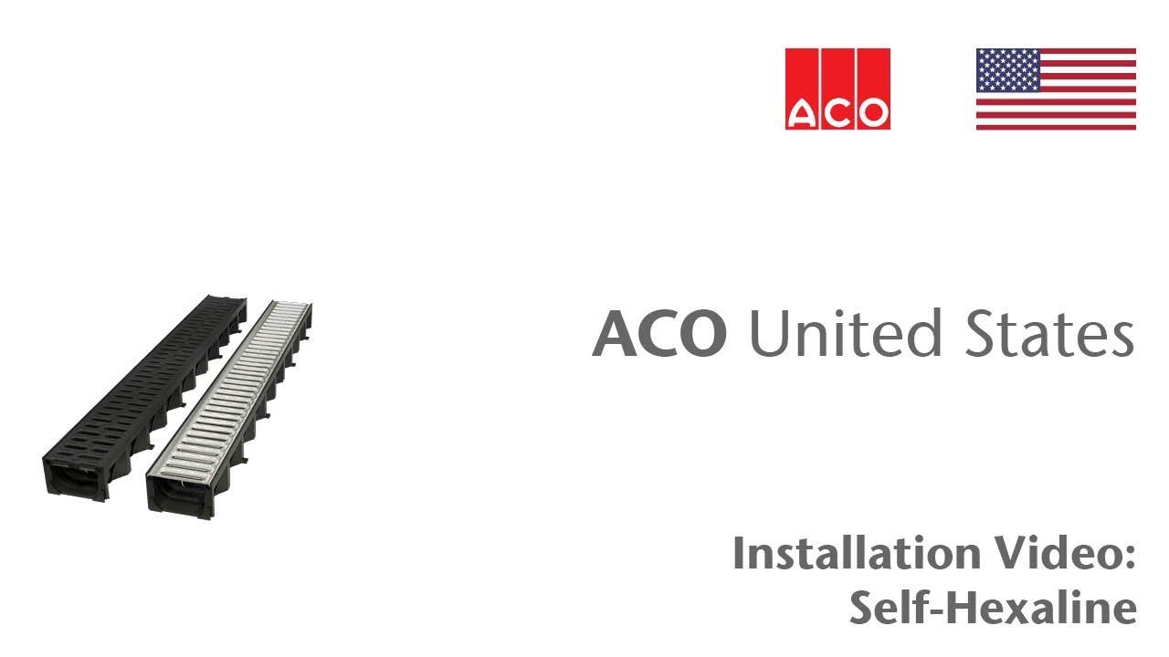 Aco how to series markant hexaline install youtube for Drain de garage installation