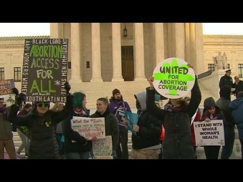 Supreme Court Justices dvivided on Texas abortion law