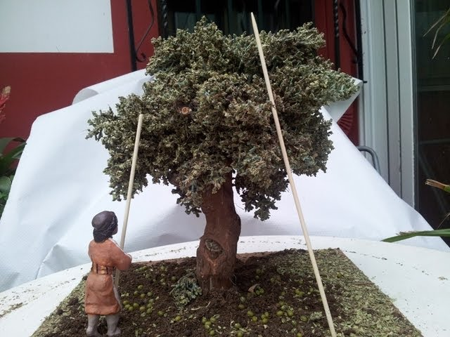 COMO HACER UN OLIVO - HOW TO OLIVE TREE