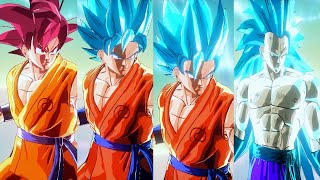 Goku SSGSS 1,2,3,SSG Transformable Mod | Dragon Ball Xenoverse Mods