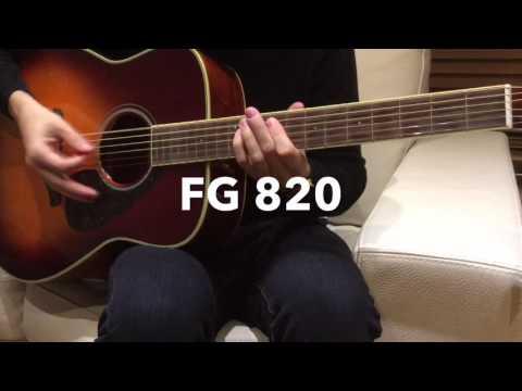 Yamaha FG 800 & FG 820 quick sound comparison