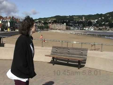 Minehead beach, harbour, and park