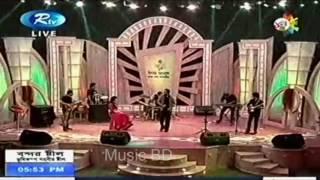 Asif Akbar Live song Shabash Bangladesh by Nongor Rtv
