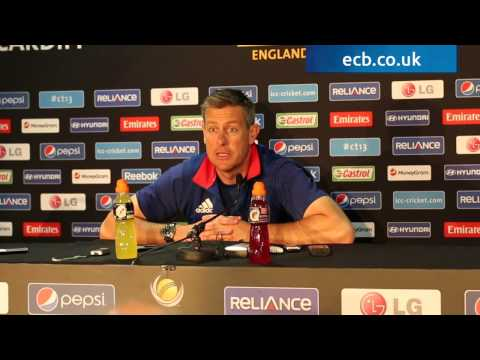 Ashley Giles press conference ahead of New Zealand Champions Trophy clash