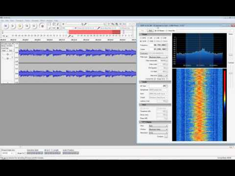 SDR# + EzTV666 RTL2832U, Commercial FM sample (90.7 WMFE)