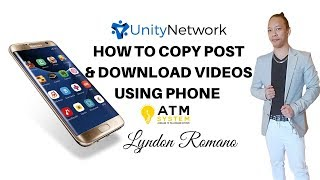 How to Copy & Paste post on Fb & Download Videos on Fb by LYNDON ROMANO