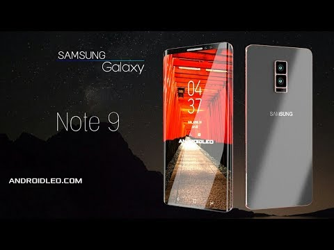Samsung galaxy Note 9 edge with 12GB RAM, official video