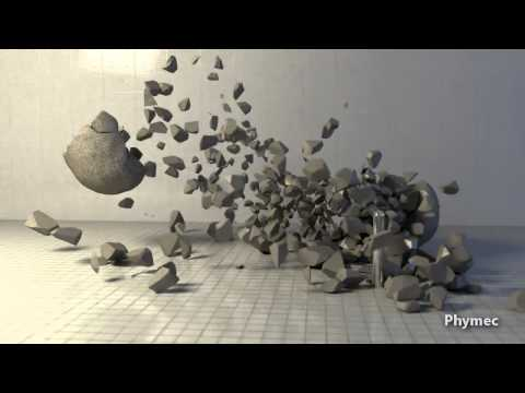 Voronoi Fracture and Shatter Lab Tests - Blender & Bullet Physics