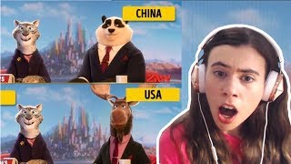REACTING TO HOW CARTOONS LOOK IN DIFFERENT COUNTRIES!!!