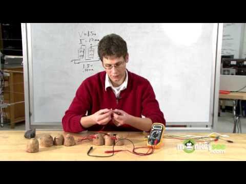 how to make a potato powered calculator