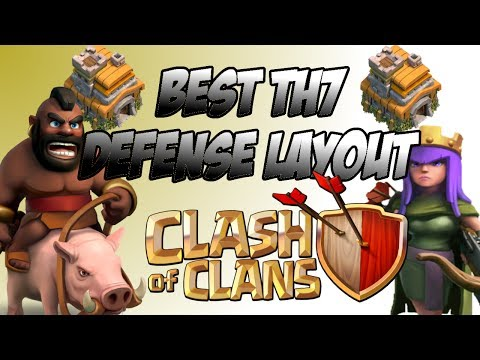 Clash of Clans Best Town Hall Level 7 Farming/Trophy Base!!! And Best Attack Strategy