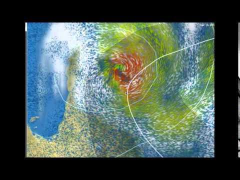 Tropical Cyclone Ita Nearing the Queensland Coastline