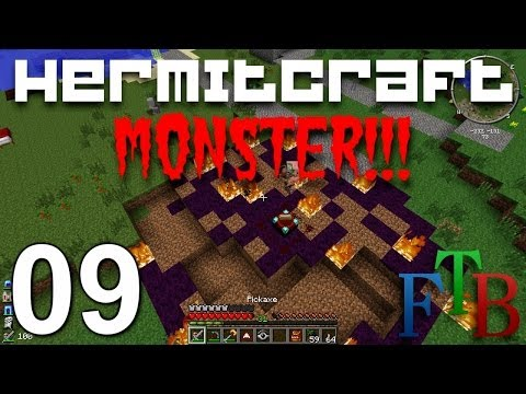 Hermitcraft FTB Monster Ep. 9 - Midnight Ritual Gone Wrong !!!
