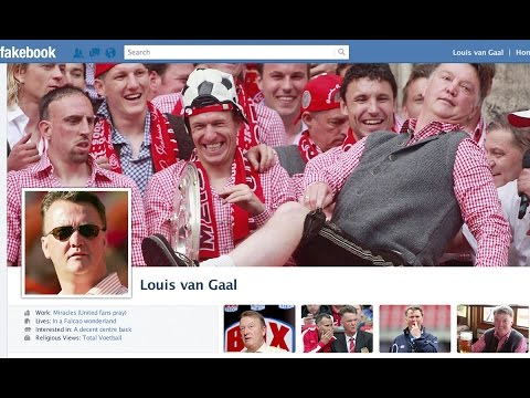 Yesch! It's Louis van Gaal's Fakebook Page