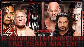 WWE RAW 2K17 - Finn Balor, Shinsuke Nakamura & Brock Lesnar vs John Cena, Goldberg & Roman Reigns